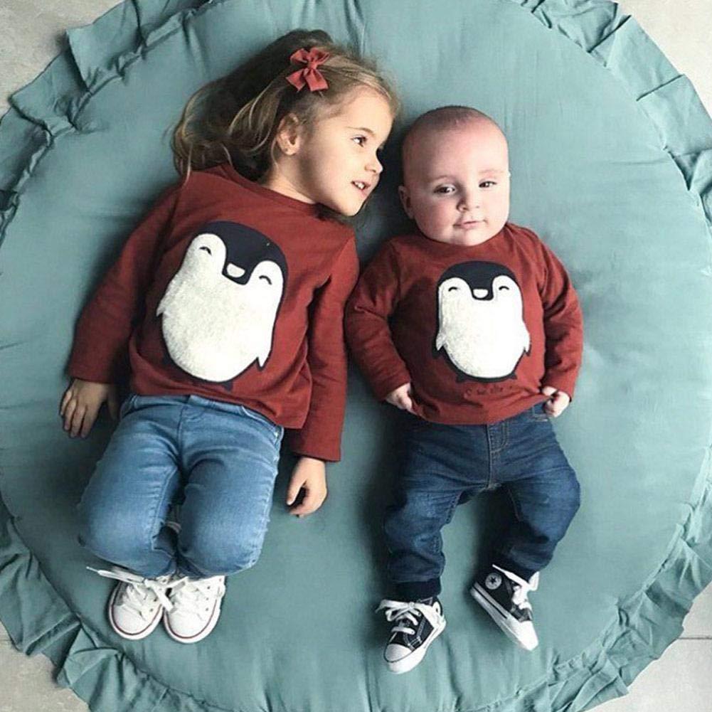 Never-hu Kinder Baby Spielmatte Runde Teppich Kriechmatte Spielzelte Dekoration f/ürs Kinderzimmer