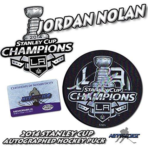 fb18b182985 Signed Jordan Nolan Hockey Puck - 2014 LA CUP CHAMPIONS w COA - Autographed  NHL Pucks at Amazon's Sports Collectibles Store