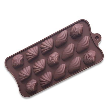 Moldes de silicona para tartas de 15 cavidades en 3D, molde para fondant, herramientas