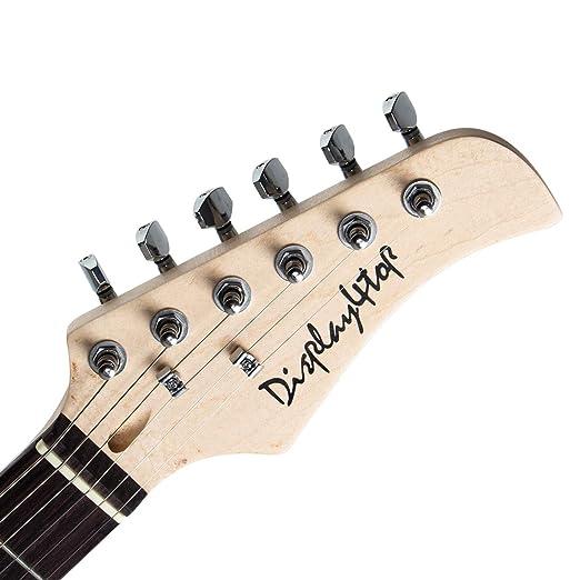 Display4top Kit de guitarra eléctrica Amplificador de 20 vatios, soporte de guitarra, bolsa, púa de guitarra, correa, cuerdas de repuesto, sintonizador, ...
