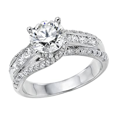 1.30 ct. Certified Diamond Solitaire Engagement Ring in Platinum (H Color/SI Clarity) Y6NzJEeOH