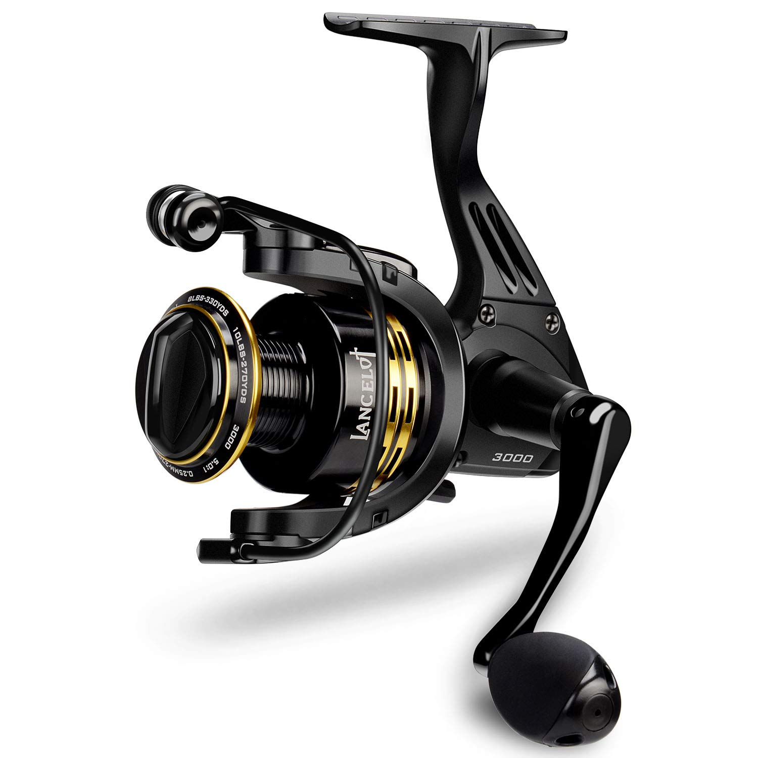 KastKing Lancelot Spinning Reel, Freshwater Fishing Reel, 5 1 Steel Ball Bearings, Up to 17.5lbs of Smooth Drag, High-Capacity Aluminum Spools, Aluminum Handle.