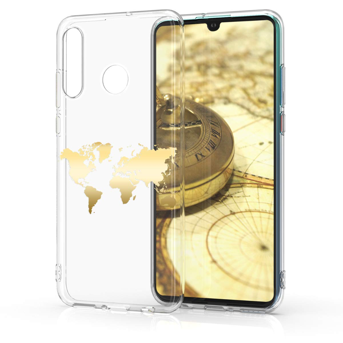 Housse de t/él/éphone en Silicone Blanc-Transparent kwmobile Coque Huawei P30 Lite Coque pour Huawei P30 Lite