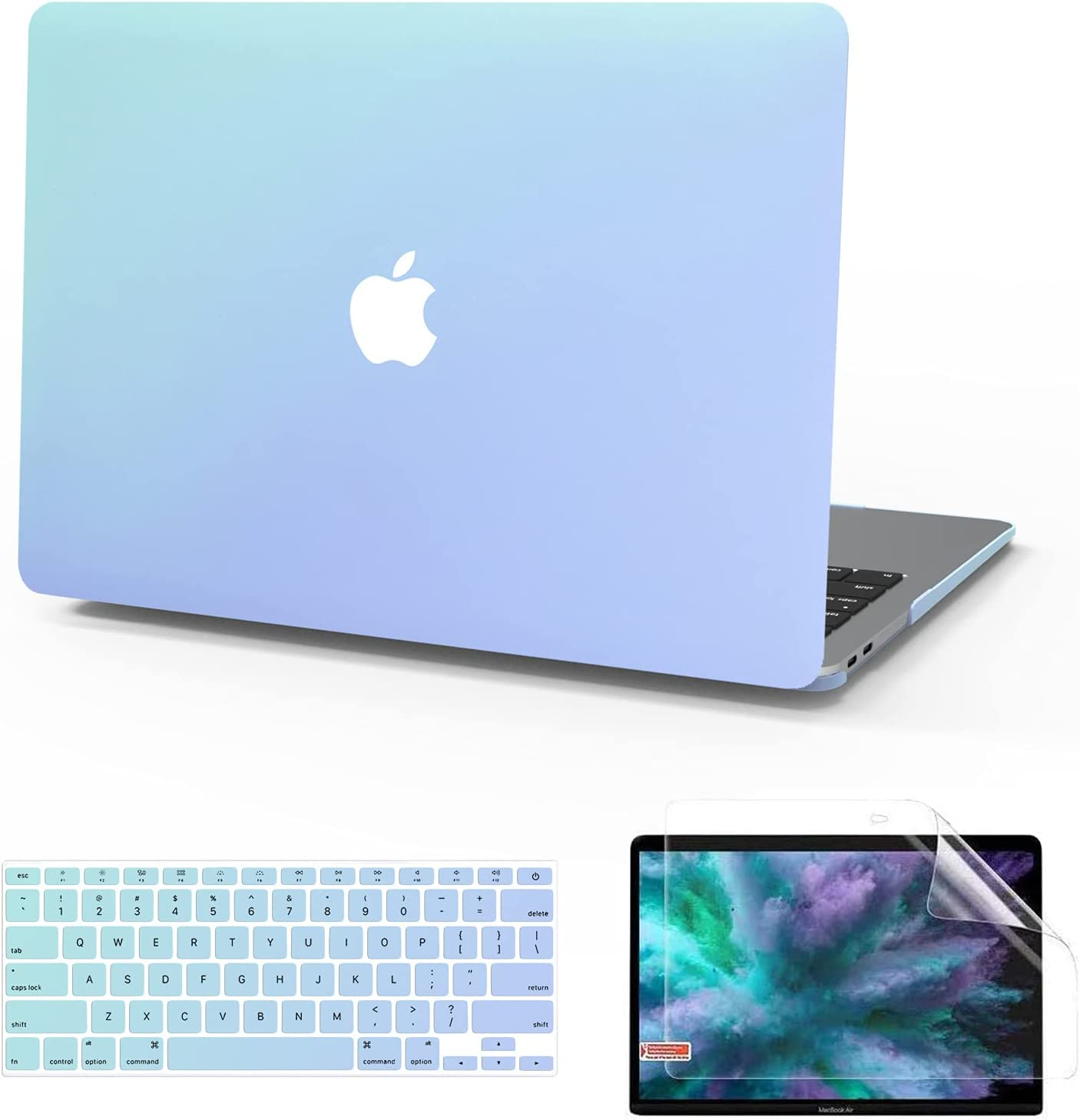 Ultra Slim Smooth Plastic Hard Corner Protective Shell Cover Compatible with MacBook Air 13 Inch Anban MacBook Air 13 Inch Case Model:A1369 /& A1466, Older Version 2010-2017 Release