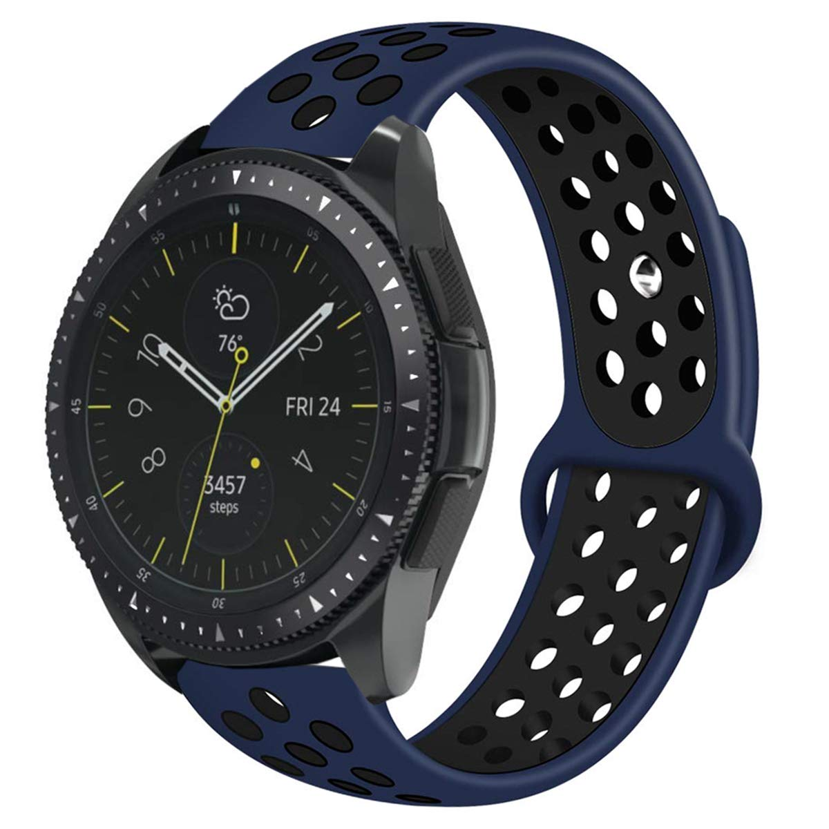 Compatible with Samsung Galaxy Watch 42mm Bands/Gear Sport Band, 20mm Breathable Silicone Strap Sports Replacement Wristband for Galaxy Watch ...