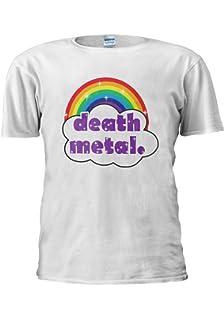 33f3919a NisabellaLTD Cute Death Metal Rainbow Funny Swag Novelty Men Women Unisex  Top T Shirt