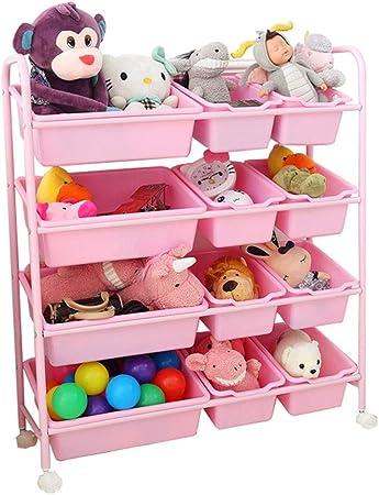 Bastidor de almacenamiento de juguetes Jardín de infantes Cesta de almacenamiento para bebés Sala de estar