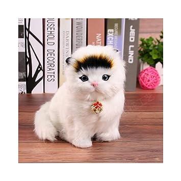 TKHCOLDM Los Gatos de Juguete se llamarán Gatitos Juguetes de Peluche adecuados para los Regalos de los niños, decoración del hogar, Enviar Amigos, ...