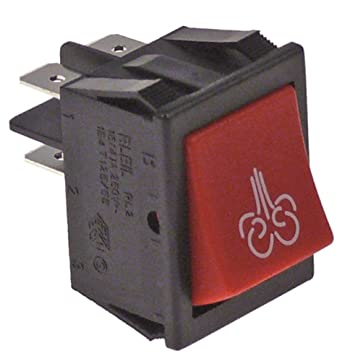 Interruptor pulsador Rojo Vapor 250 V 16 A 2 NO para cafetera ...