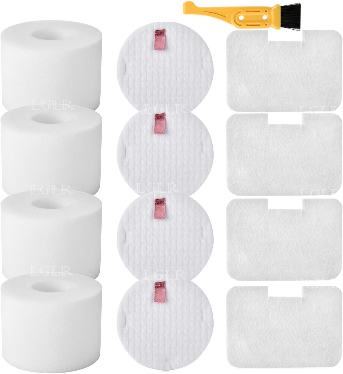 LGLR 4 Pack Replacement Vacuum Filters for Shark Navigator Deluxe Upright Vacuum NV42, NV44, NV46, UV402 UV410, Replace Part # XFF36