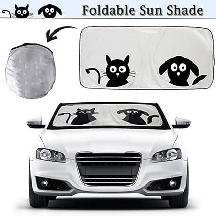 Amazon Com 2win2buy Cartoon Car Windshield Sun Shade Front Auto