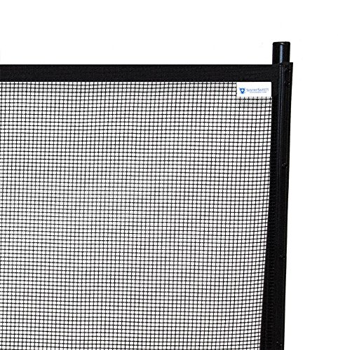 Sentry Safety Pool Fence Visiguard 4' Tall 12' Long Removable Child Barrier Pool Safety Mesh Fence (Black)](Outdoor Retractable Fence)