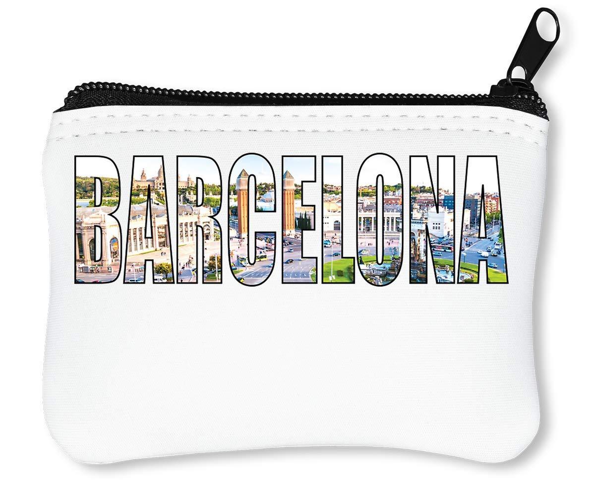 Barcelona Billetera con Cremallera Monedero Caratera: Amazon ...