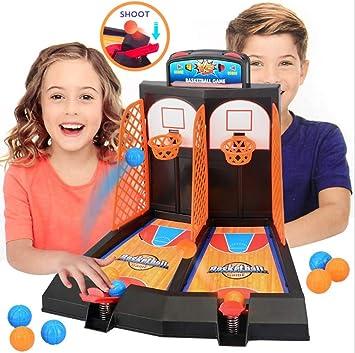 Hztyyier Juego de Juego de Tiro de Baloncesto Mini Juego de aro de Baloncesto Juguete de Juego de Mesa Interactivo Divertido Pinball para niños y Adultos: Amazon.es: Juguetes y juegos