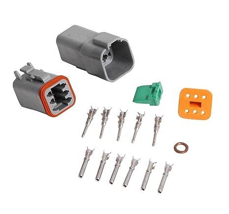 amazon com msd 8180 6 pin deutsch connector automotive rh amazon com Deutsch Electrical Plugs Deutsch Fittings Catalog