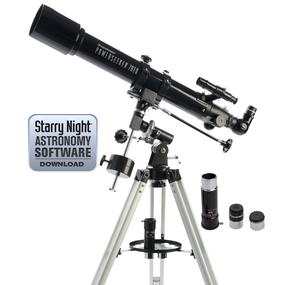 Celestron PowerSeeker 70EQ Telescope (Renewed) by Celestron