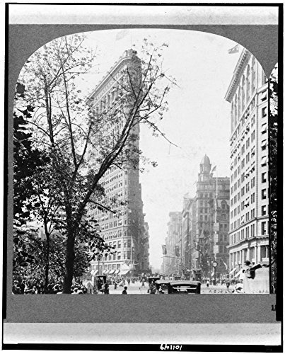 1917 Photo The Flatiron Building, Fifth Avenue and Broadway, N.Y., U.S.A. Location: New - Avenue Map New York 5th