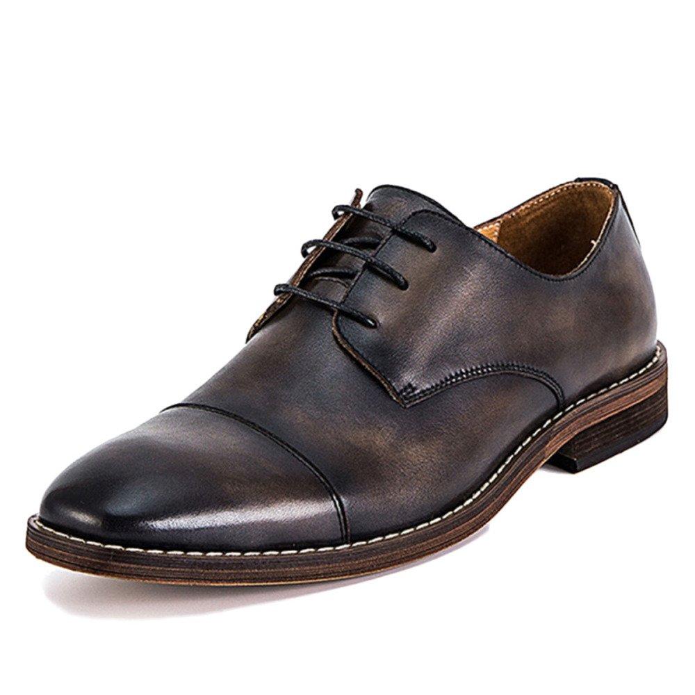 Nihiug Braunes Leder Schuhe Für Männer Tan Slip on Work Work Work Schnürschuh Herren Business-Schuhe Gürtel True Leather f9a47b