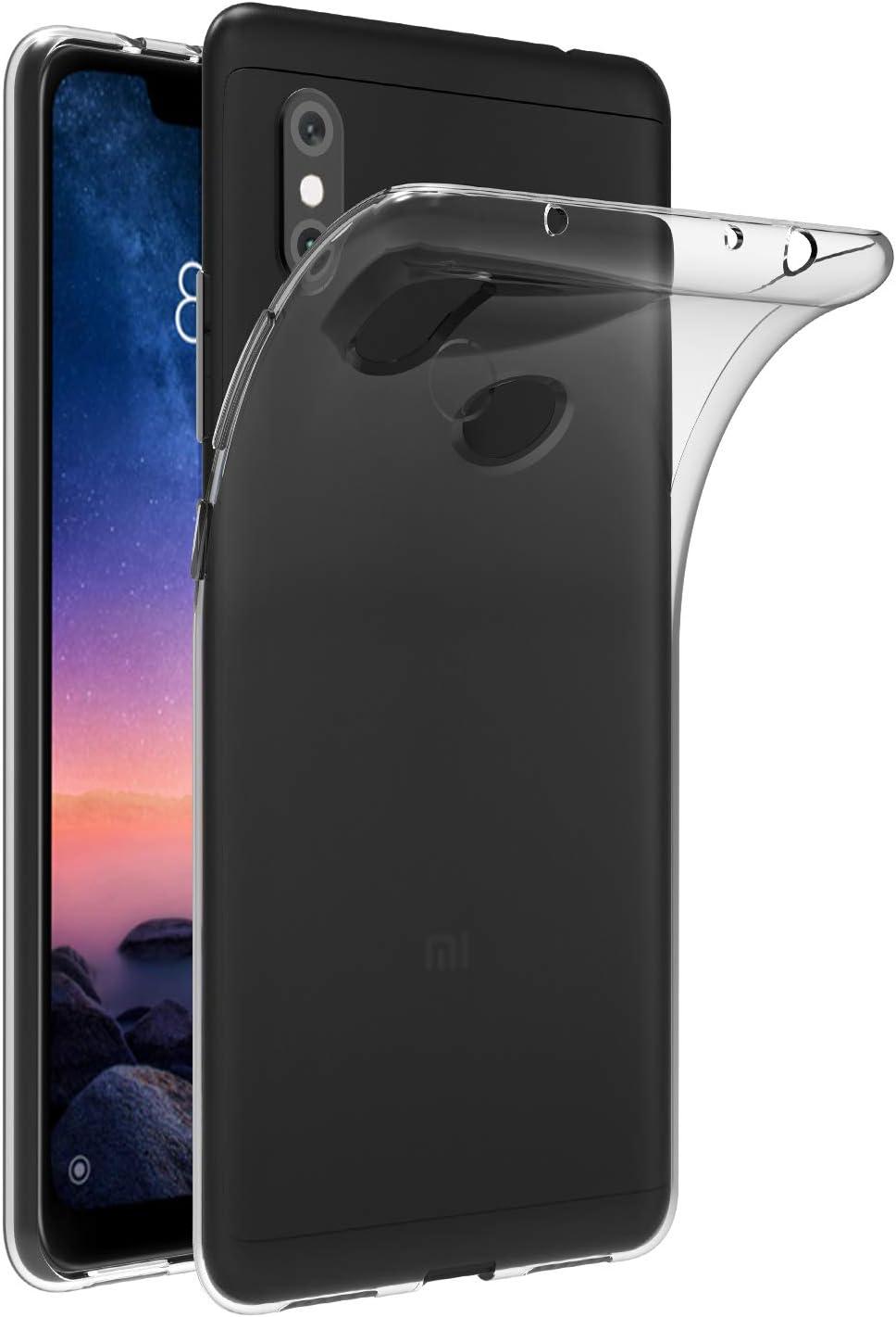 ivoler Funda Carcasa Gel Transparente para Xiaomi Redmi Note 6 Pro, Ultra Fina 0,33mm, Silicona TPU de Alta Resistencia y Flexibilidad