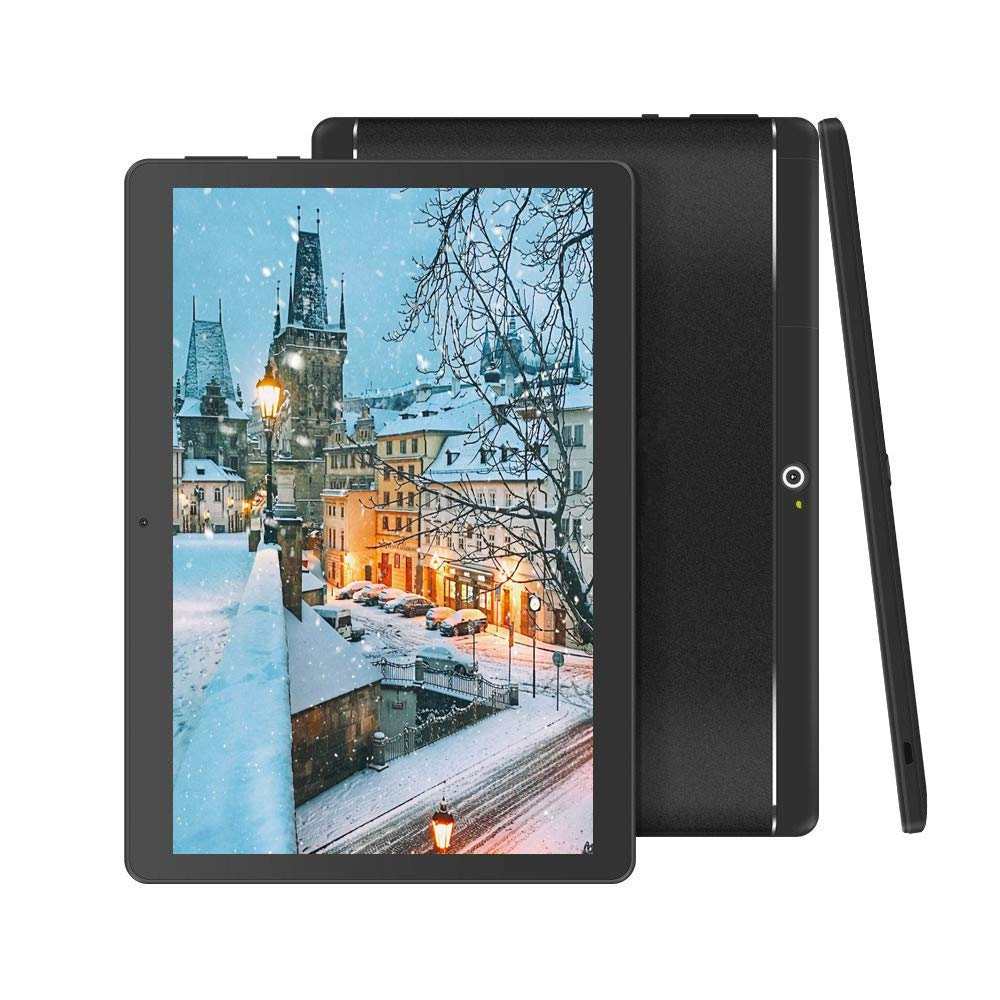 BeyondTab Android Tablet with SIM Card Slot Unlocked 10 inch -10.1'' IPS Screen Octa Core 4GB RAM 64GB ROM 3G Phablet with WiFi GPS Bluetooth Tablet (Black)