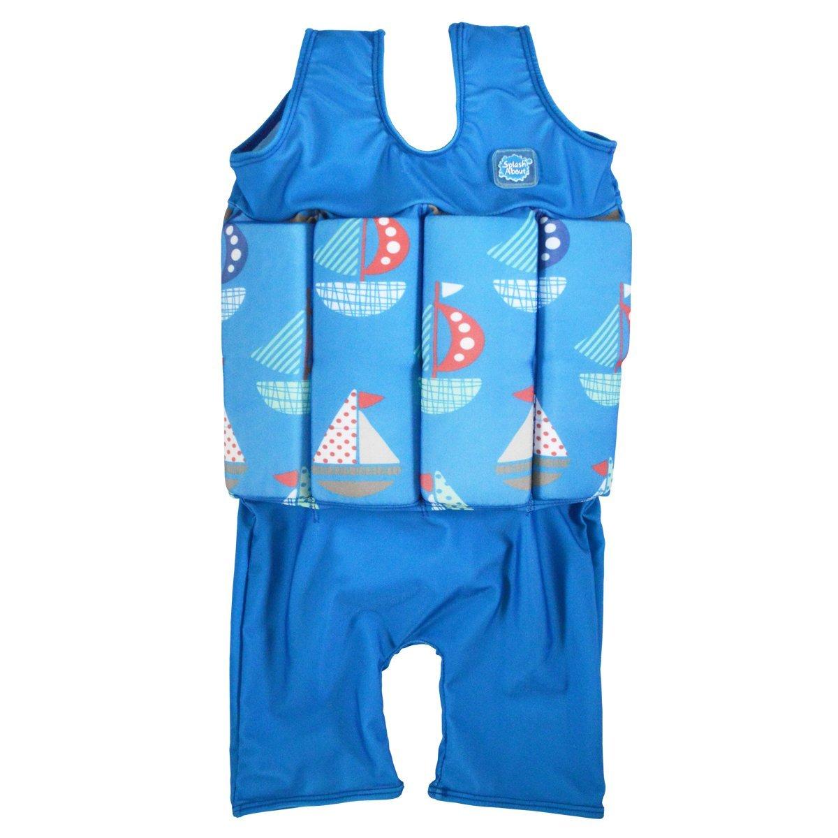 Maillot de bain-Avec Flotteurs Ajustables - Splash About ' Bleu Set Sail 1-2 ans B00I9WI634
