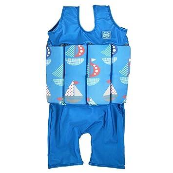 Splash About SJSSP4 - Flotador corto de tirantes para niños, color azul, con diseño