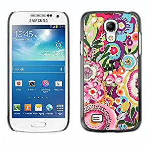 Be Good Phone Accessory // Dura Cáscara cubierta Protectora Caso Carcasa Funda de Protección para Samsung Galaxy S4 Mini i9190 MINI VERSION! // Floral Pink Pattern Girly