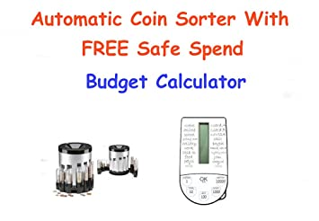 automatic electric coin sorter with free safe spend budget