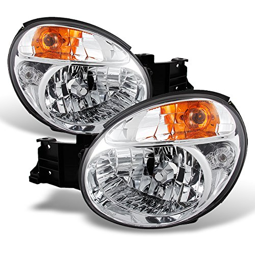Subaru Impreza GD GG 4 Dr Sedan Wagon Chrome Clear Headlights Front Lamps Left + Right Replacement
