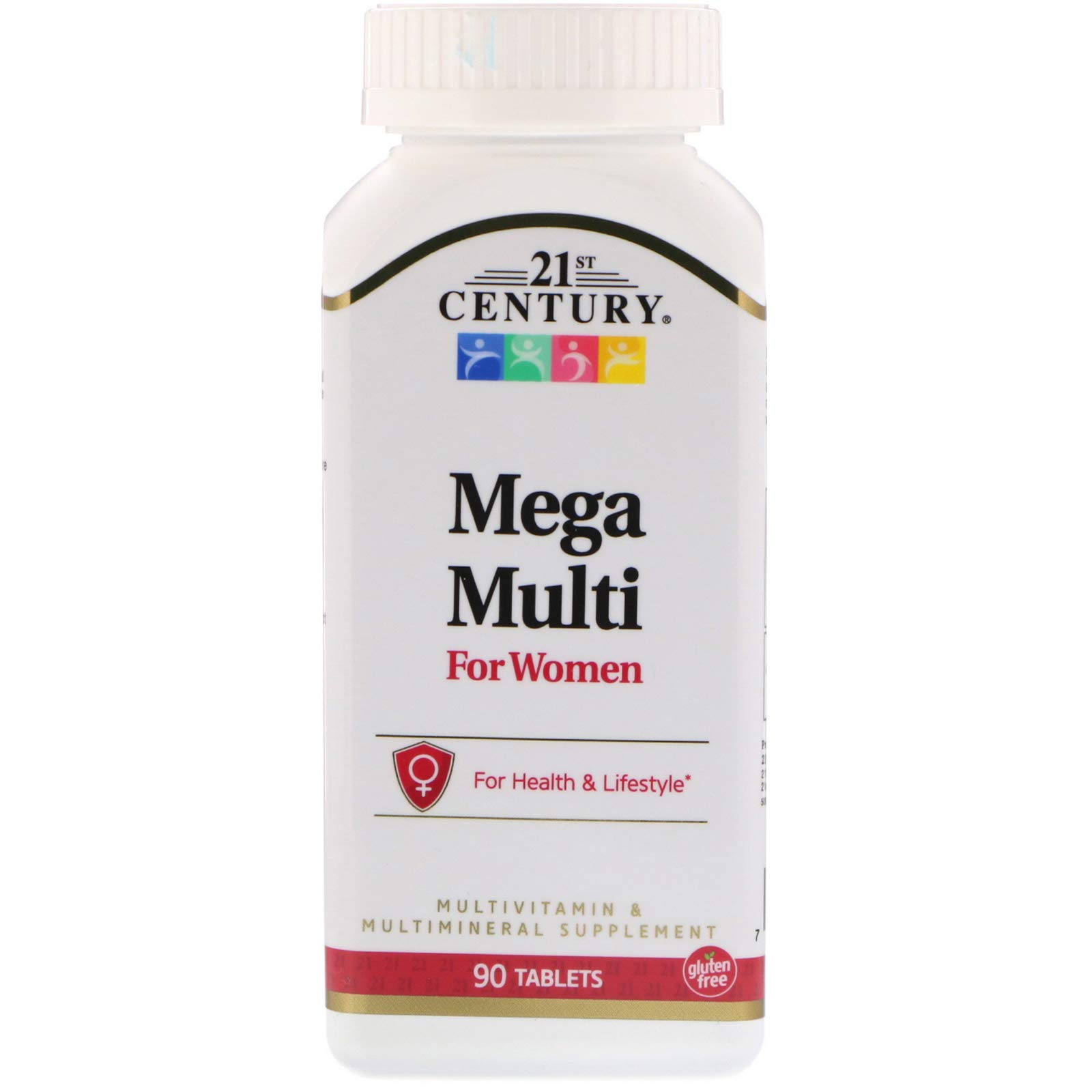 21st Century, Mega Multi, for Women, Multivitamin & Multimineral, 90 Tablets by 21st Century Vitamins (Image #1)