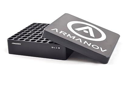 Amazon.com: armanov 9 mm. funda calibre caja 100 Rnd. con ...