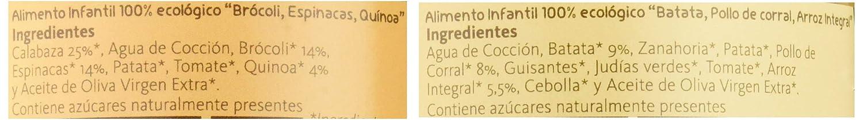 Yammy, Potito Ecológico de Verduras (Brócoli, Espinacas, Quinoa ...