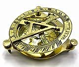"""Brass Metal Compass Sundial 4"""" Solid Brass"""