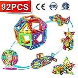 CRENOVA Magnetic Blocks 95Pcs Construction Set Included Ferris Wheels Carrying Bag Booklet Toys for Kids