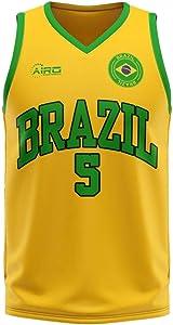 Airosportswear Brazil Home Concept Basketball Football Soccer T-Shirt Jersey