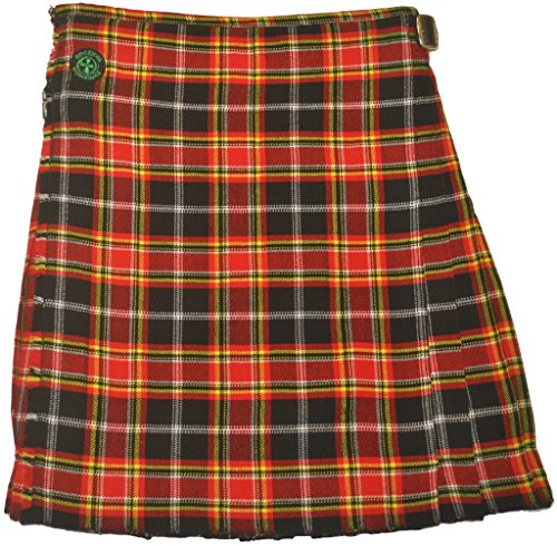 American Highlander Men's Firefighter Tartan Kilt 36 Waist Red/Black/Yellow/White by American Highlander