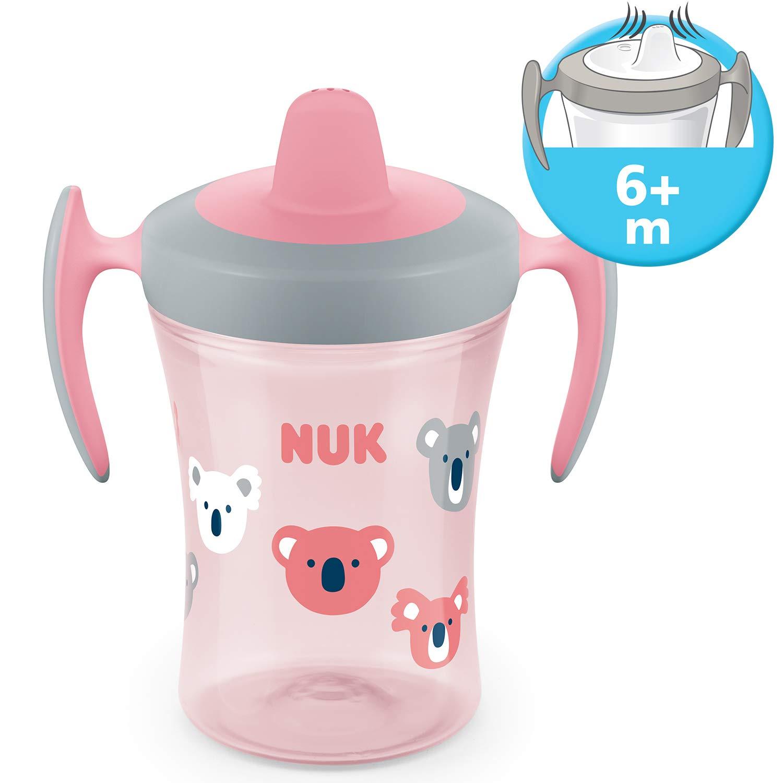 blau Geschenkbox NUK Esslern-Set mit Trainer Cup Trinklernbecher 6+ Monate Esslernsch/üssel und l/öffeln boy