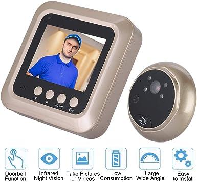 Garsent Viewer 2.4 Pollici TFT 2MP 1080P Wireless Peephole Viewer Digitale con Visione Notturna Supporto 32G TF Card Campanello Telecamera di Sicurezza Domestica. 160 /° grandangolo