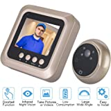 2.4 inch TFT Screen Digital Peephole Security Door Viewer, 1080P Intelligent Wireless Door Intercom Viewer Night Vision Camera with Doorbell Function for Home Security, 160 Degree Wide Angle