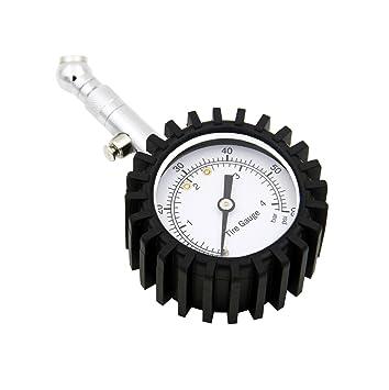 Manómetro de presión neumáticos la Tech calibrador de presión de los neumáticos portátil (con válvula de purga ...