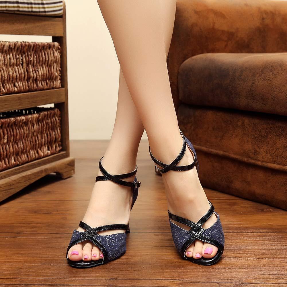 XIAOY Für Damen Latein Latein Latein Hohe Tanzschuhe Glitzer Heels Riemen Knöchelriemen Schnalle B07KXPL989 Tanzschuhe Schönes Design 75a928