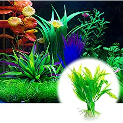 Doiber 1 pc Artificial Aquatic Plants Aquarium Plants Plastic Fish Tank Decorations
