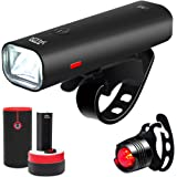 YATDA 自転車ライト USB充電式 LEDヘッドライト 高輝度 4モード対応 懐中電灯兼用 アルミ合金製 防水 防振