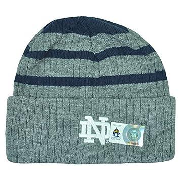 fc9f551261e NCAA Notre Dame Fighting Irish Shine On Cuffed Beanie Knit 2Tone Winter  Toque by Captivating Headgear  Amazon.co.uk  Sports   Outdoors