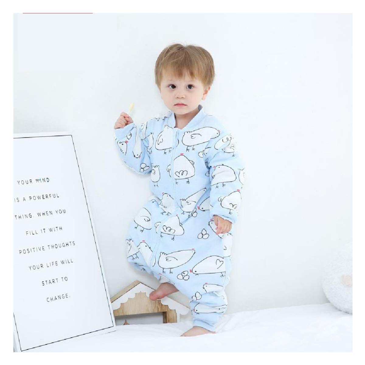 Bunnysun Saco de Dormir al beb/é Dormir con Las piernas Calientes Forrado de Invierno de Manga Larga con el pie Bolsa,01-10