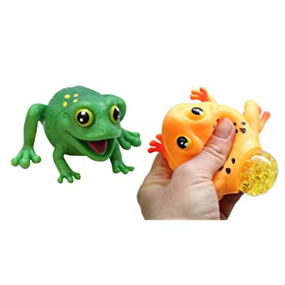 Curious Minds Busy Bags Set of 2 Frogs with Eggs Squeeze Stress Balls - Sensory, Stress, Fidget Toy - Squishy Toy: Toys & Games