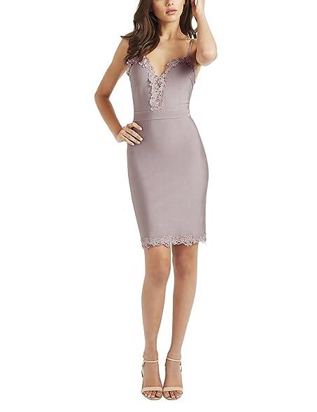 LIPSY Womens Applique Bodycon Dress Purple 8