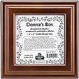 Sudberry House 99511 Donna's Square Box, 6 x 6 x 2.75'', Mahogany