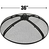 EasyGo 36 INCH Round FIRE Screen – FIRE Pit Cover – FIRE Screen Protector