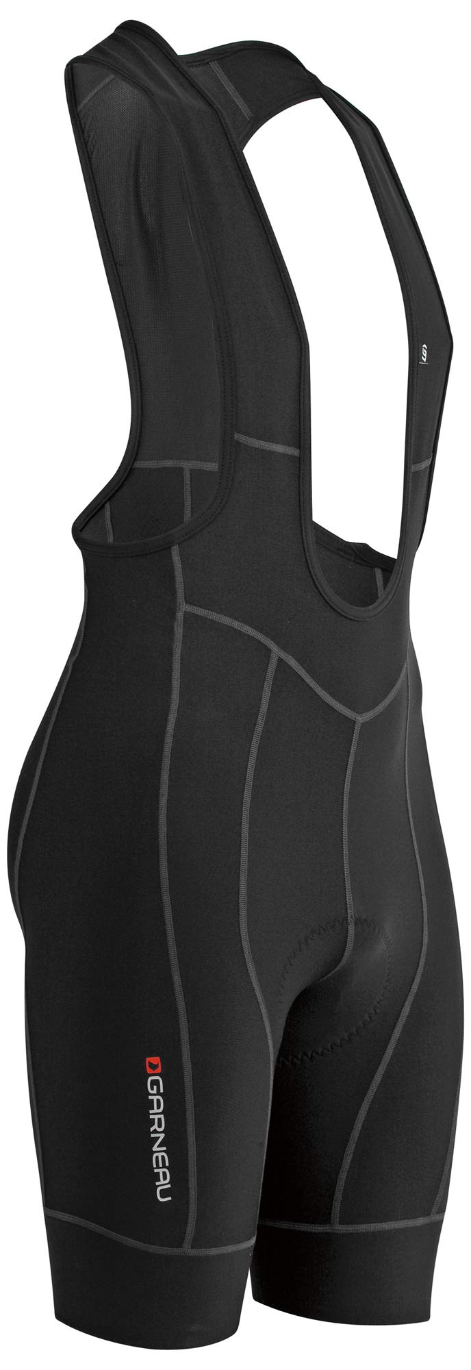 Louis Garneau Men's Fit Sensor 2 Padded, Breathable, Compression Cycling Bib Shorts, Black, XX-Large